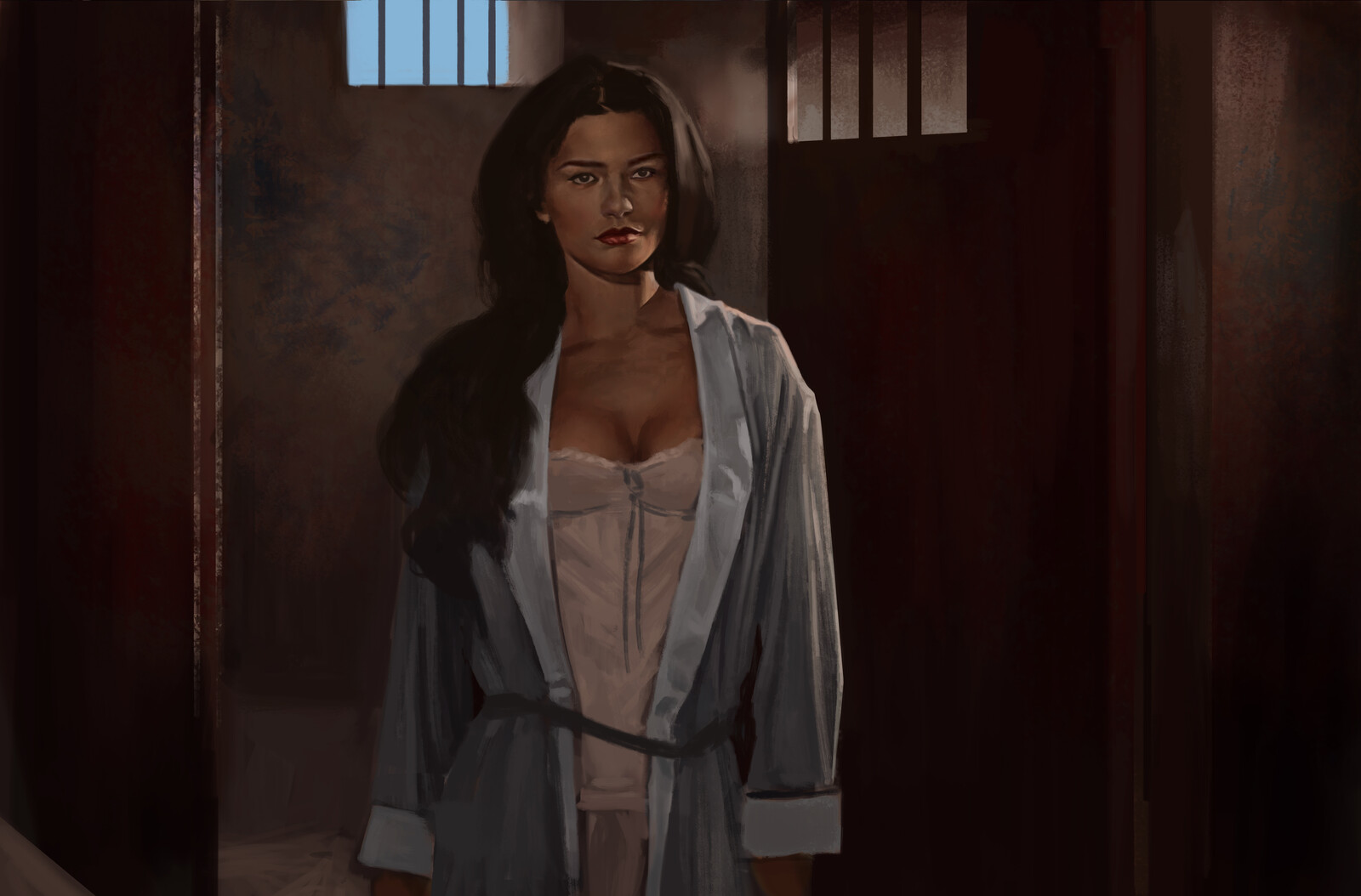 Catherine Zeta Jones study from the 1998 Film The mask of Zorro