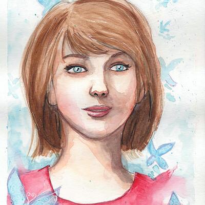 Sefie rosenlund max watercolour