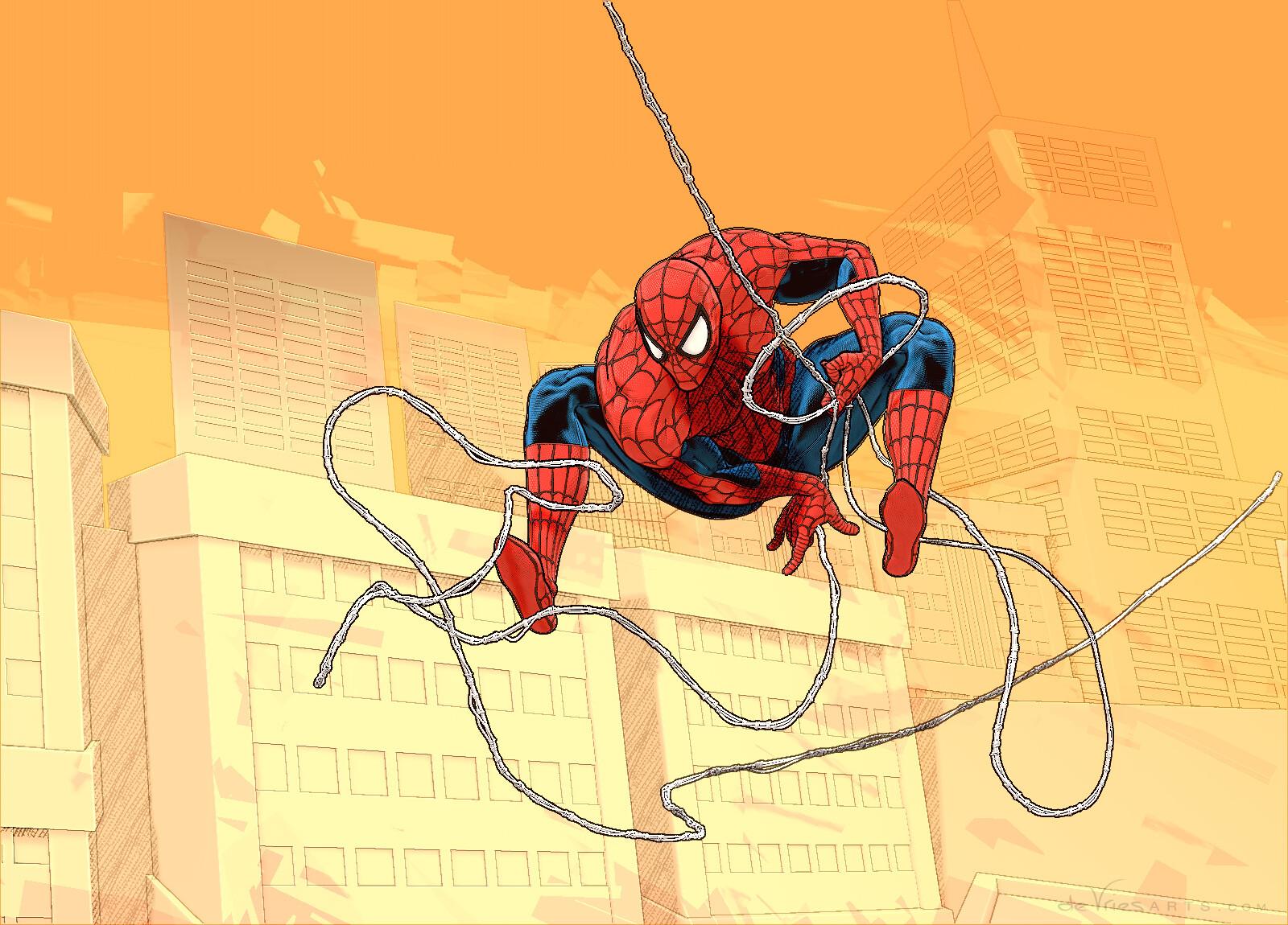 Thijs de vries city2b spiderman thijsdevries devriesarts