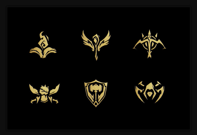 League of Legends Gameplay Role Icons