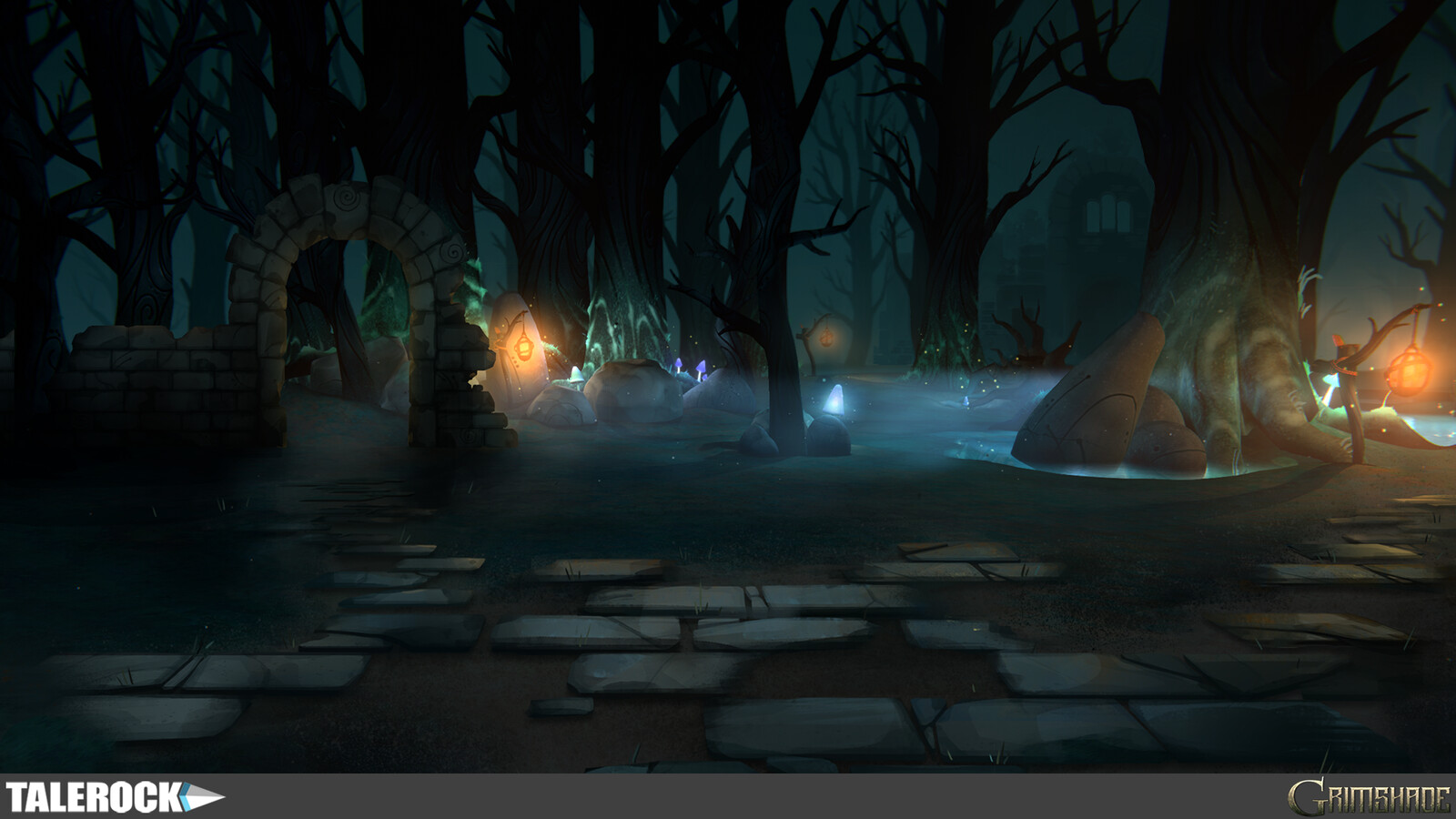 Arthu Ruins Battle Scene concept