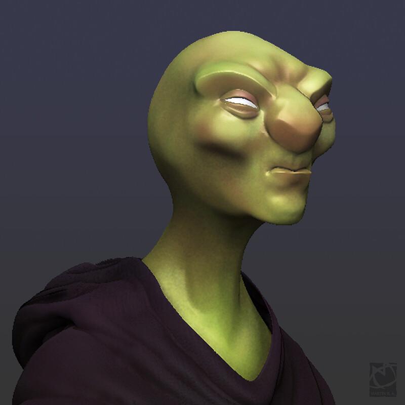 Weird Alien Head