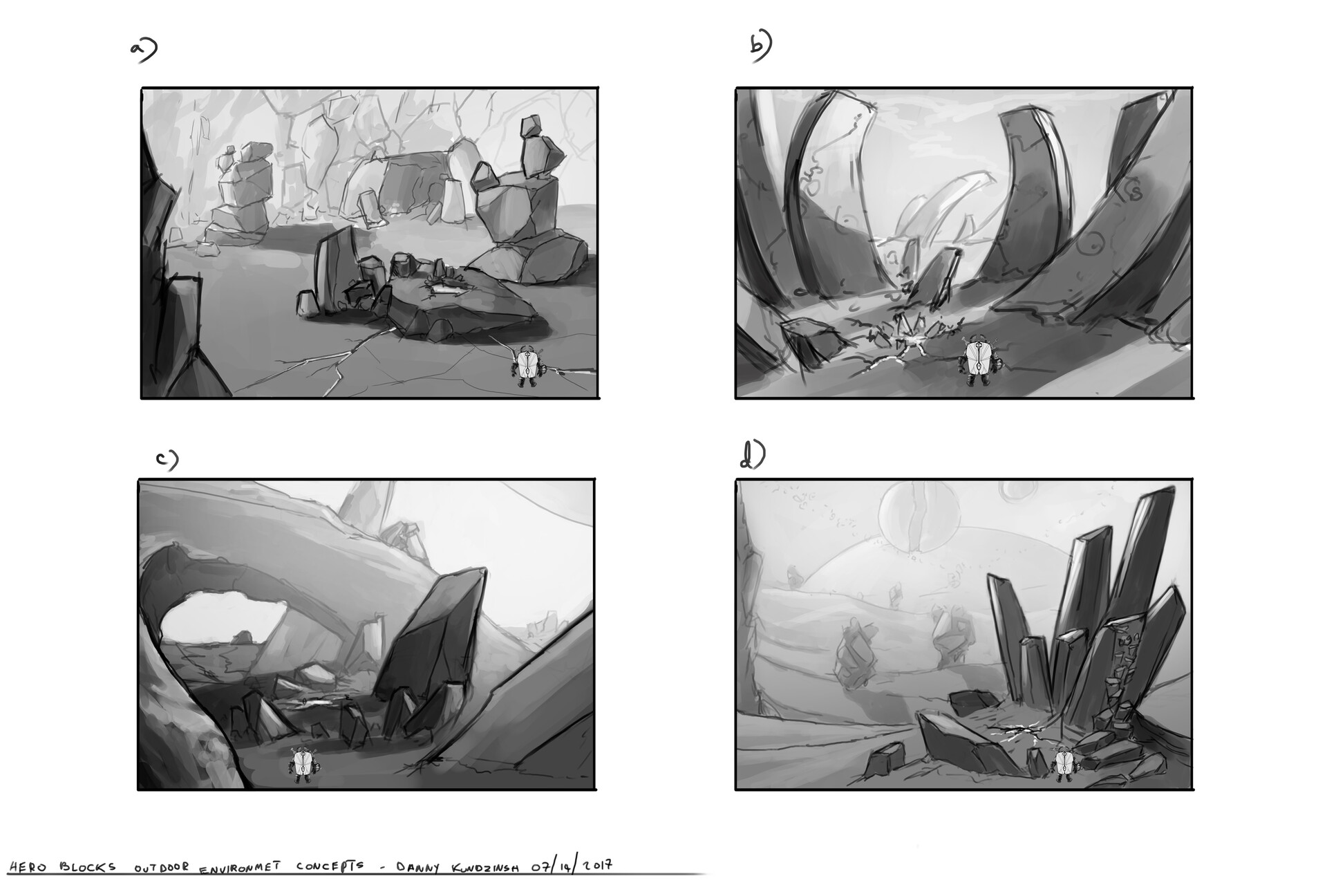 Danny kundzinsh hero blocks outdoor environment exploration comp sketches