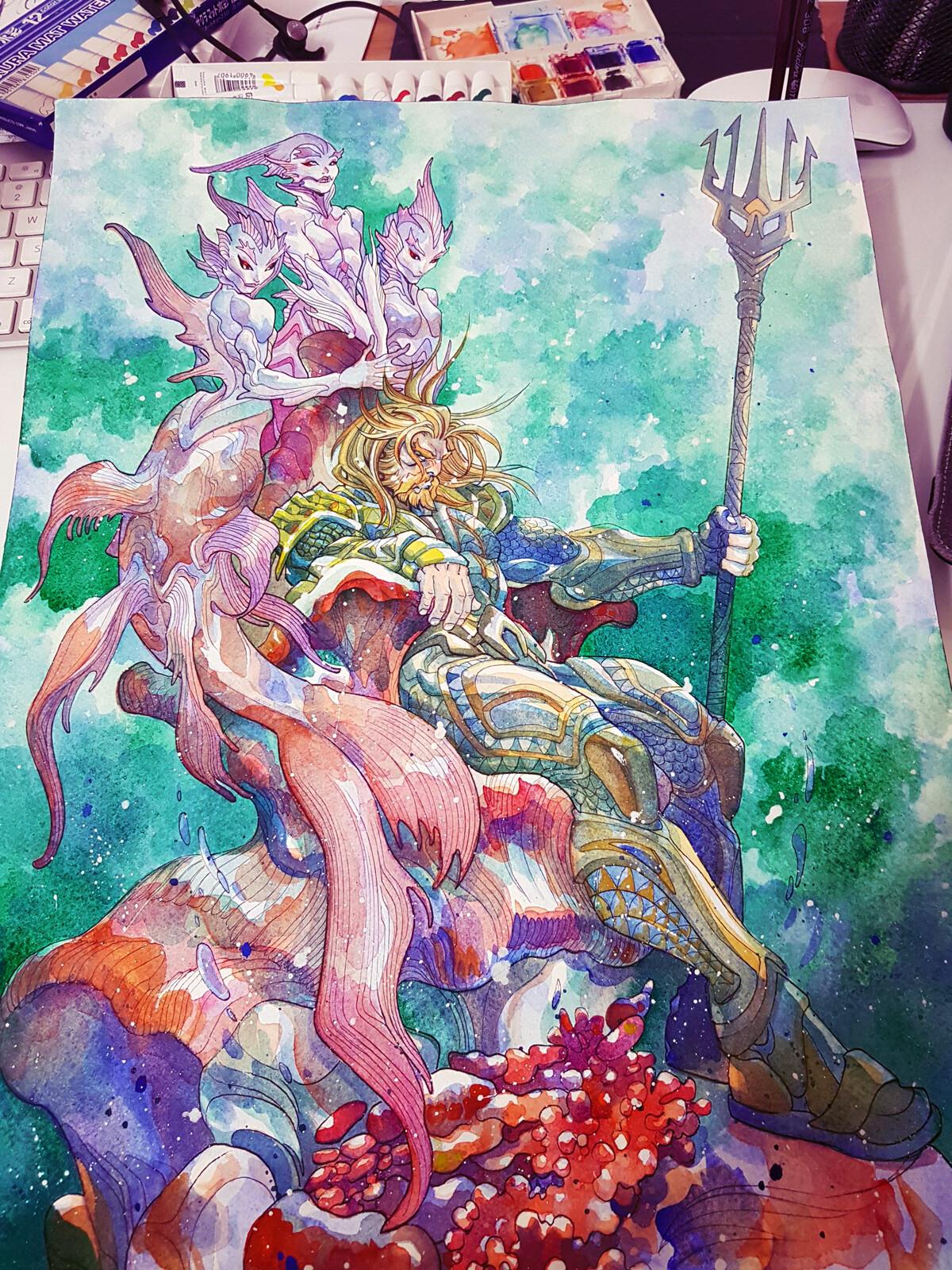 Watercolour, Aquaman