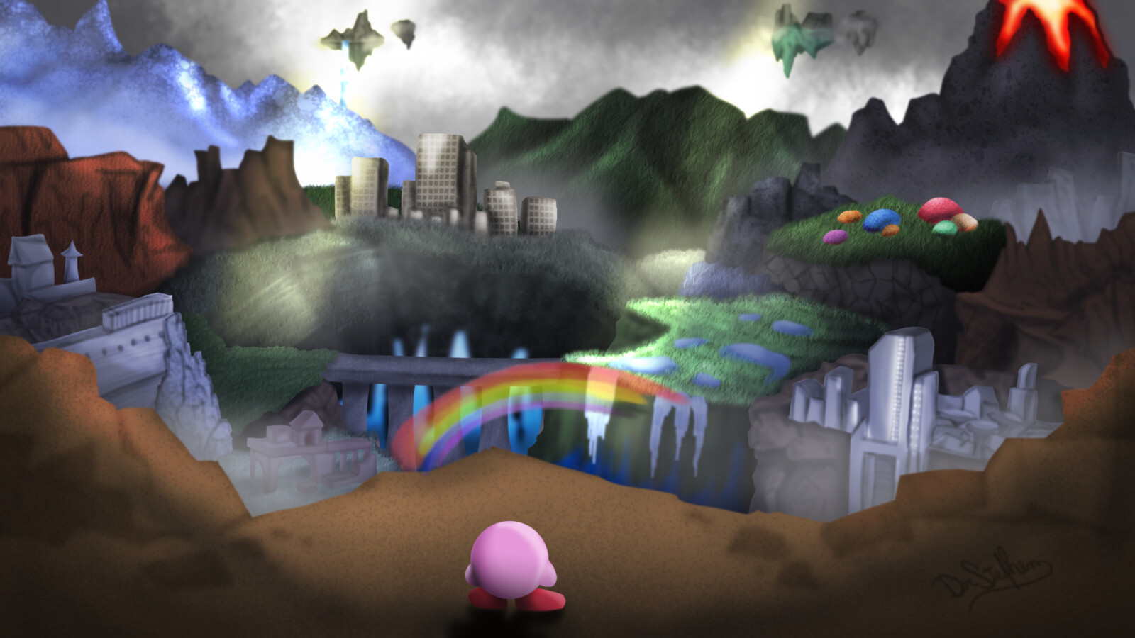 Artstation Super Smash Bros Ultimate World Of Light Fan Art