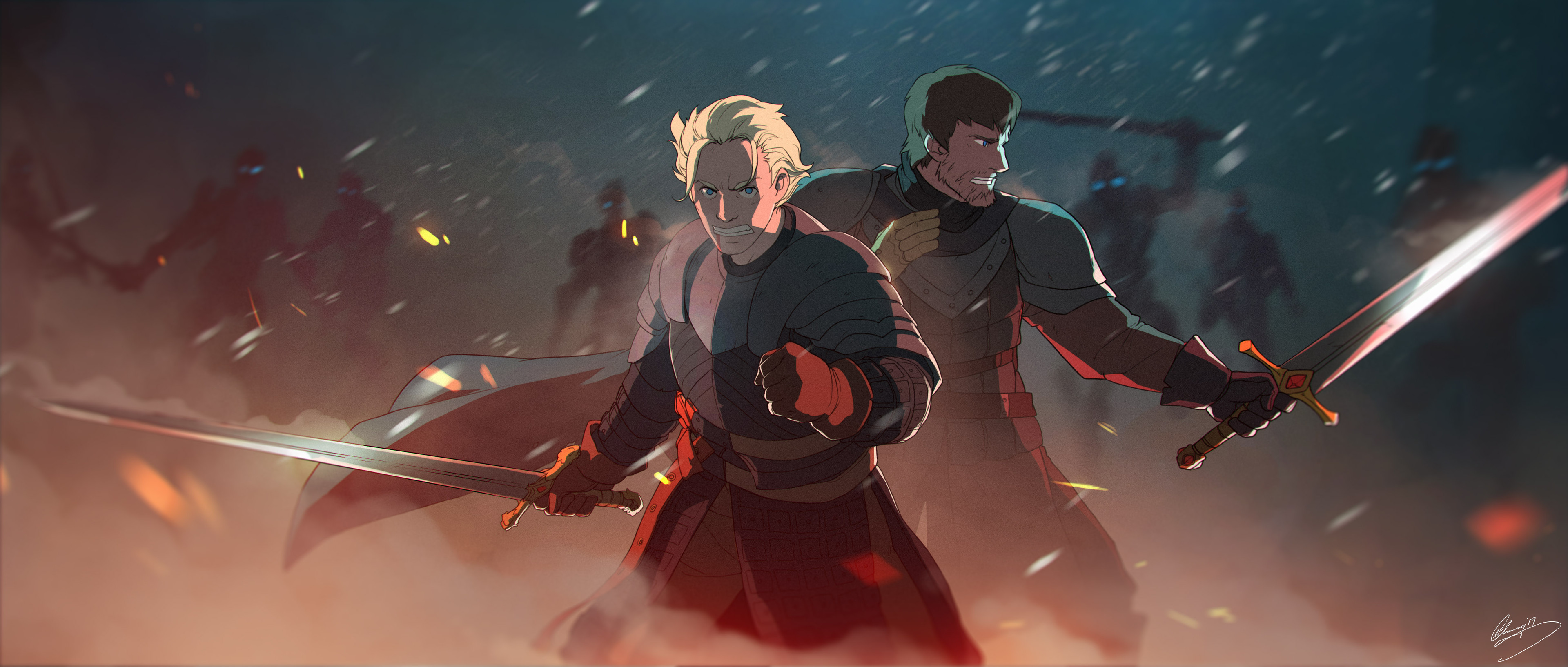 Artstation Game Of Thrones Fanart Knights Of The Seven Kingdoms Lap Pun Cheung