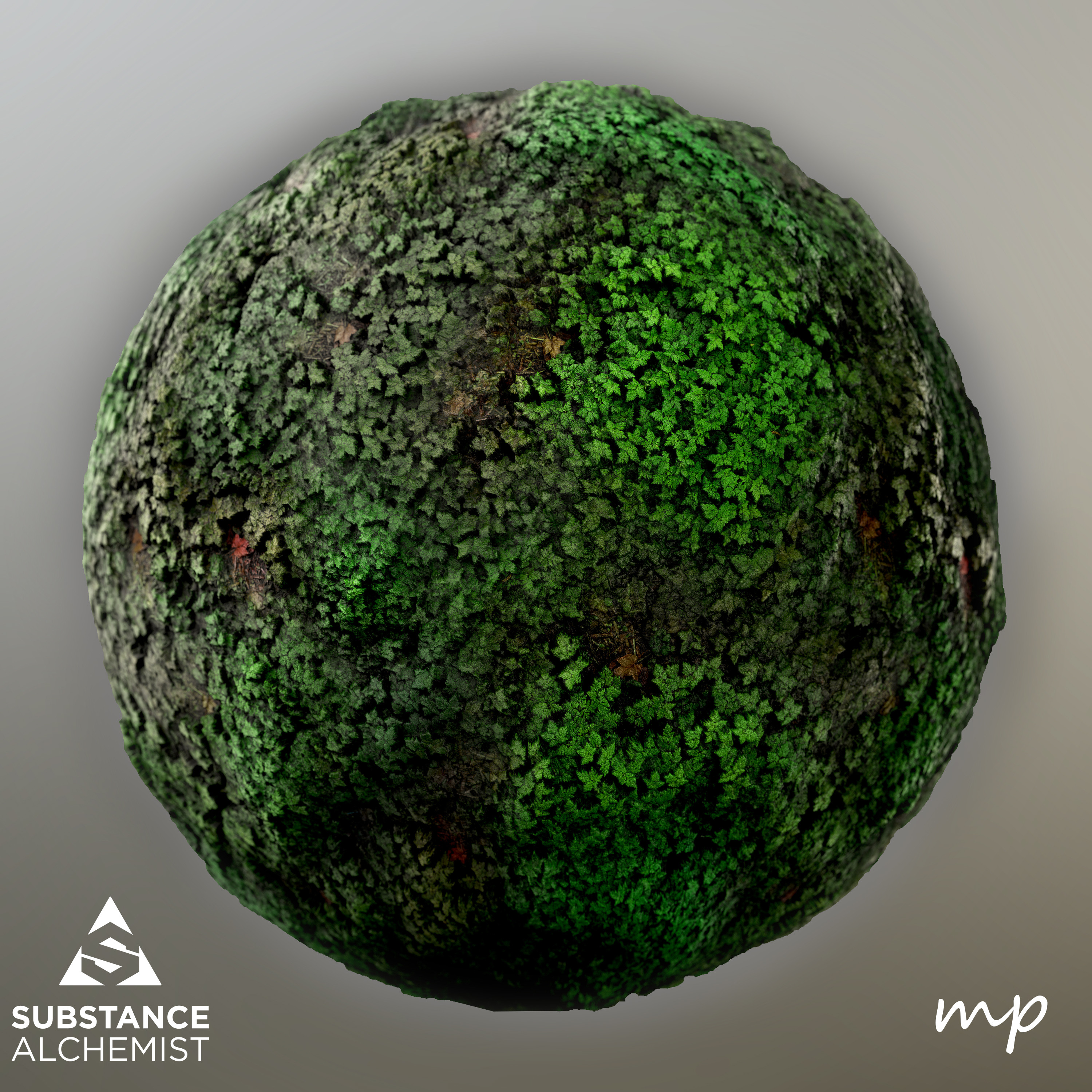 Variations created in Alchemist using a custom Substance Node.( I'm only using this material this is not a material blend)