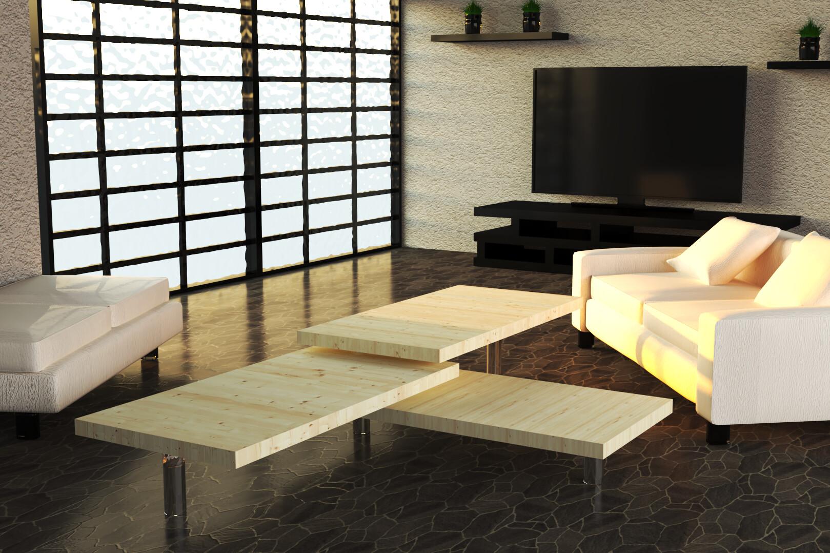 Artstation Modern Living Room Design 3d Driss Lourdelet