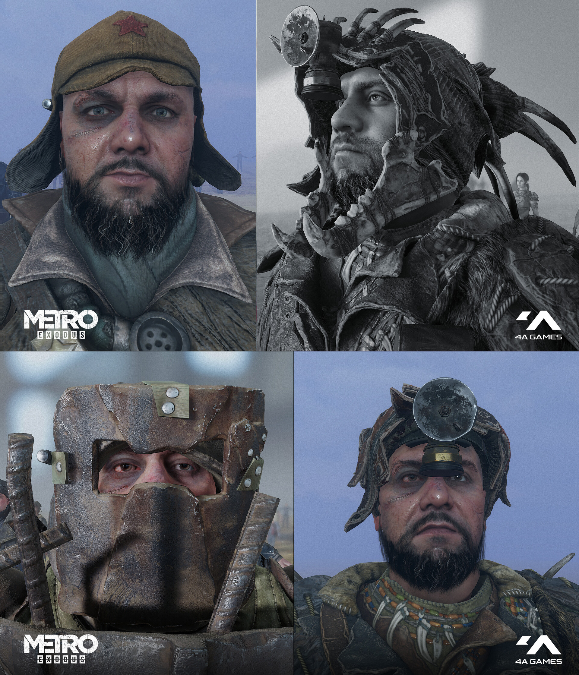 This face texture set or mesh, or whole head you can see in the game on different characters