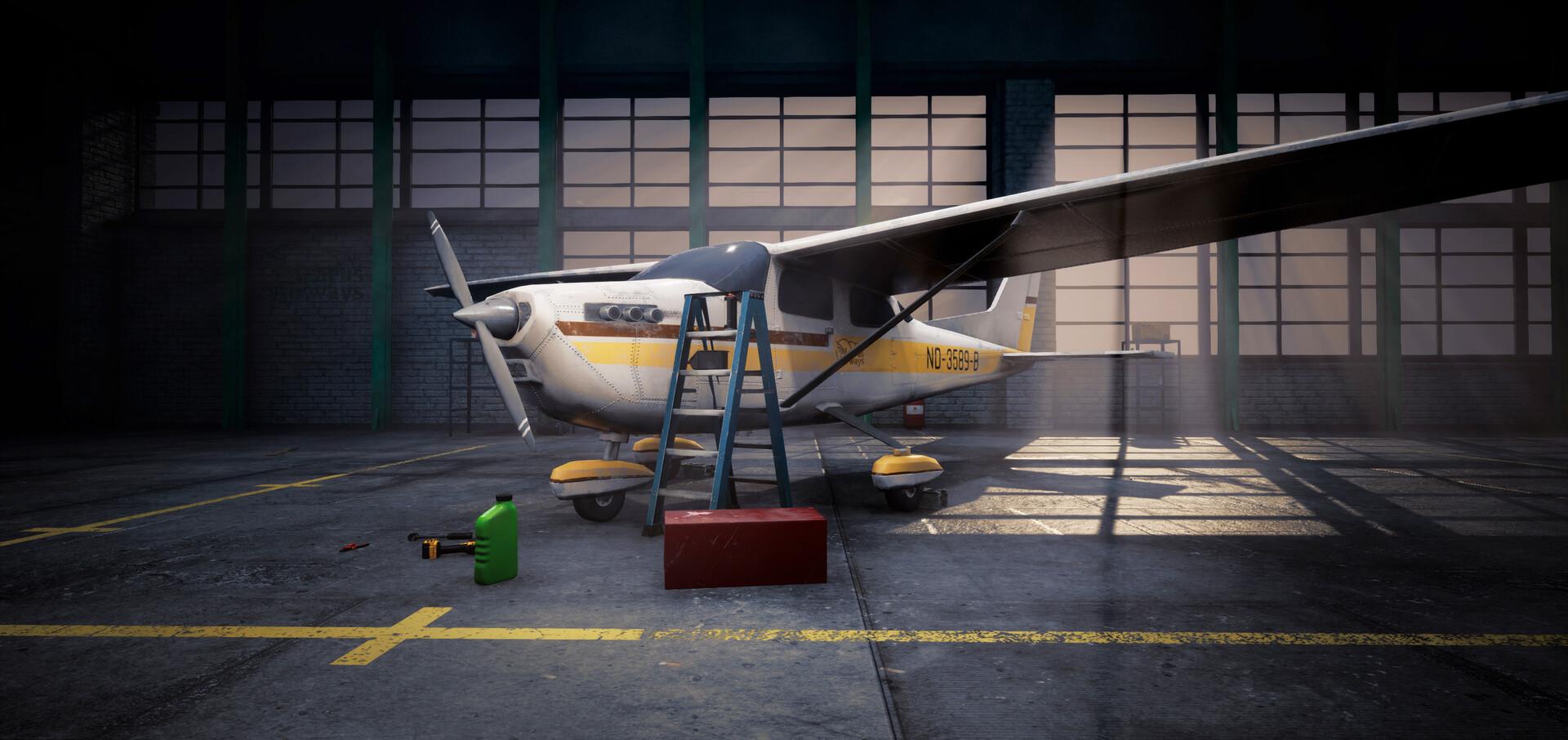 ArtStation - Airplane Hangar - Unreal Engine, Edgars Soiko