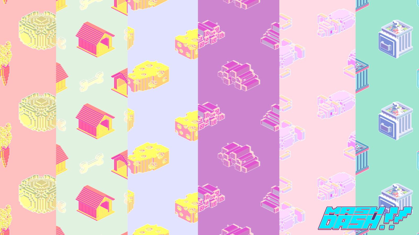 Retro inspired backgrounds.