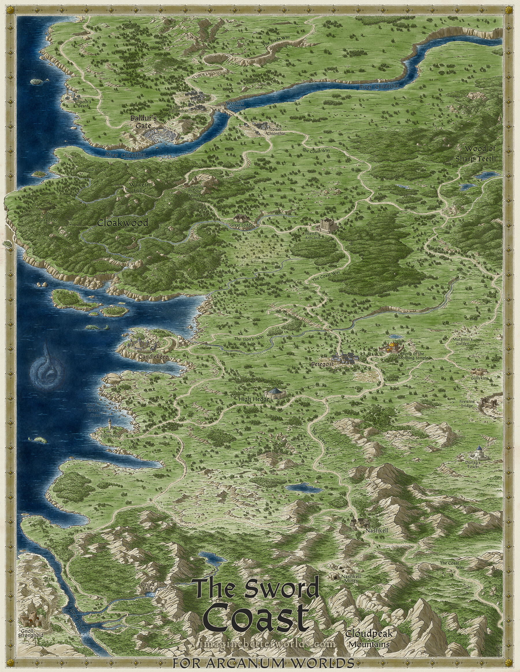 Baldur\'s Gate Map John Stevenson   Baldur's Gate   Sword Coast map