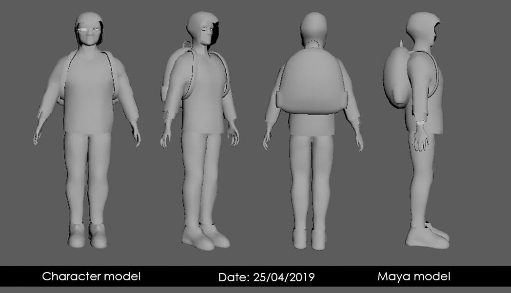 low poly Maya model turnaround