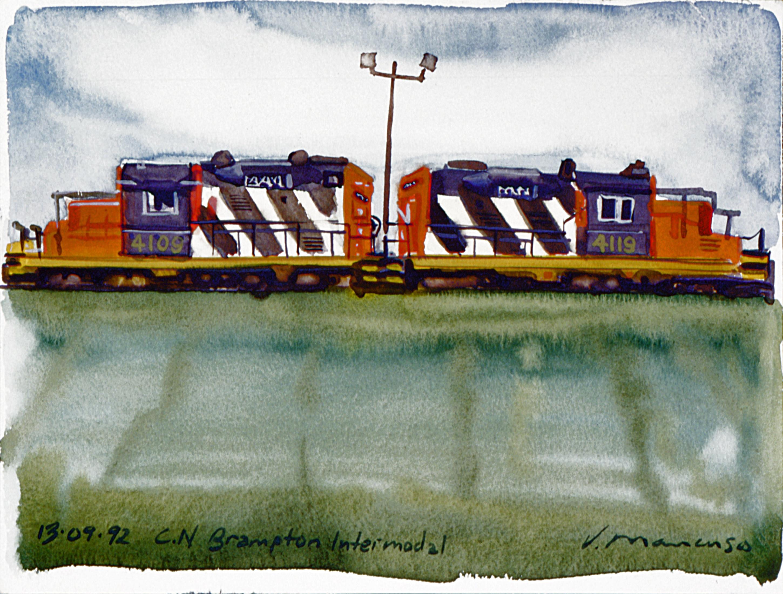 Brampton Train Yard.