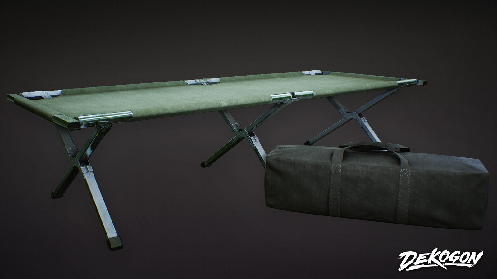 Army Cot and Bag