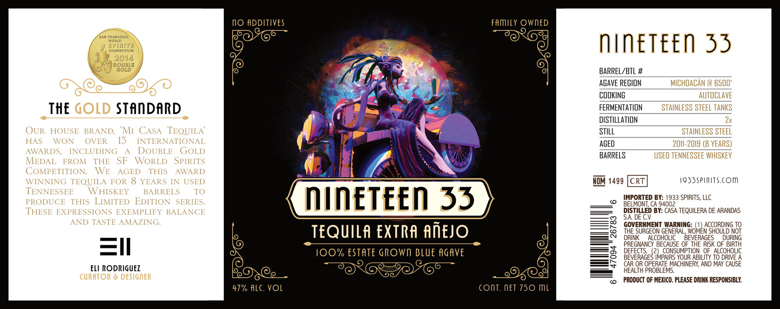 1933 Tequila Label Concept