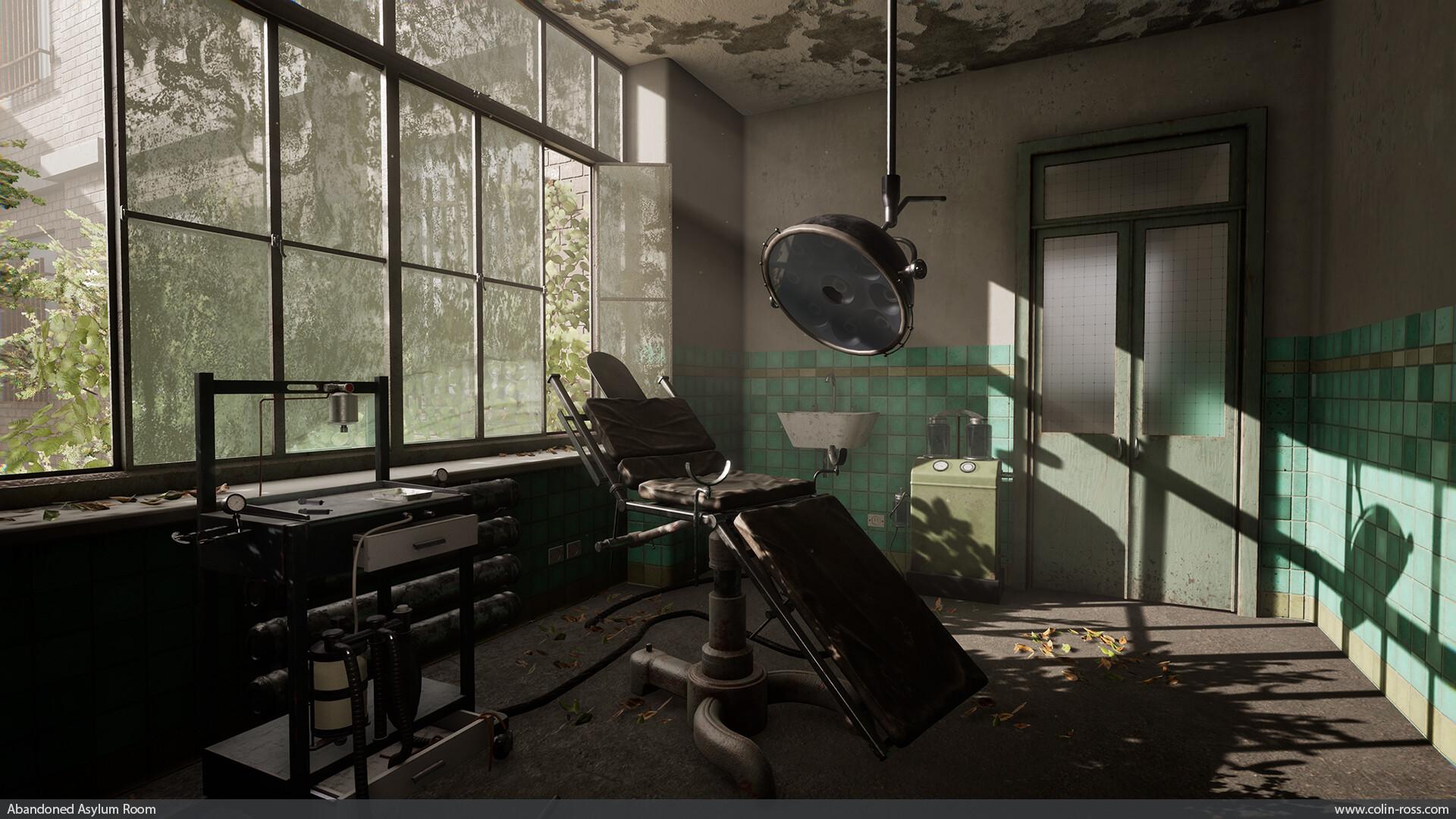 Colin Ross Abandoned Asylum Room