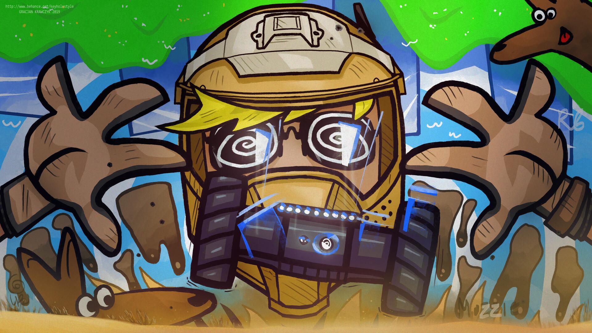 Artstation Mozzie Rainbow Six Siege Gracjan Krawczyk