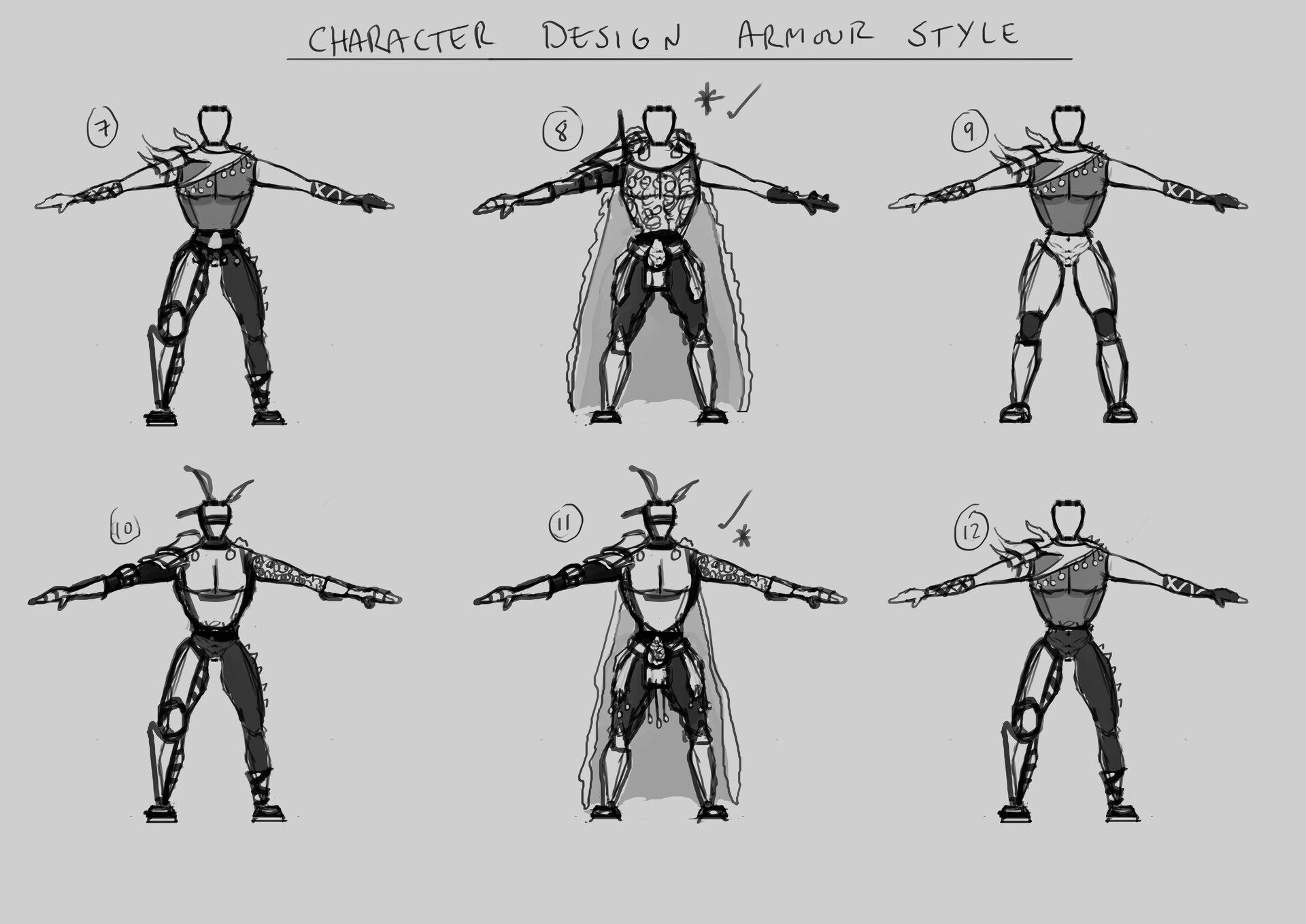 Character concept thumbnails 2