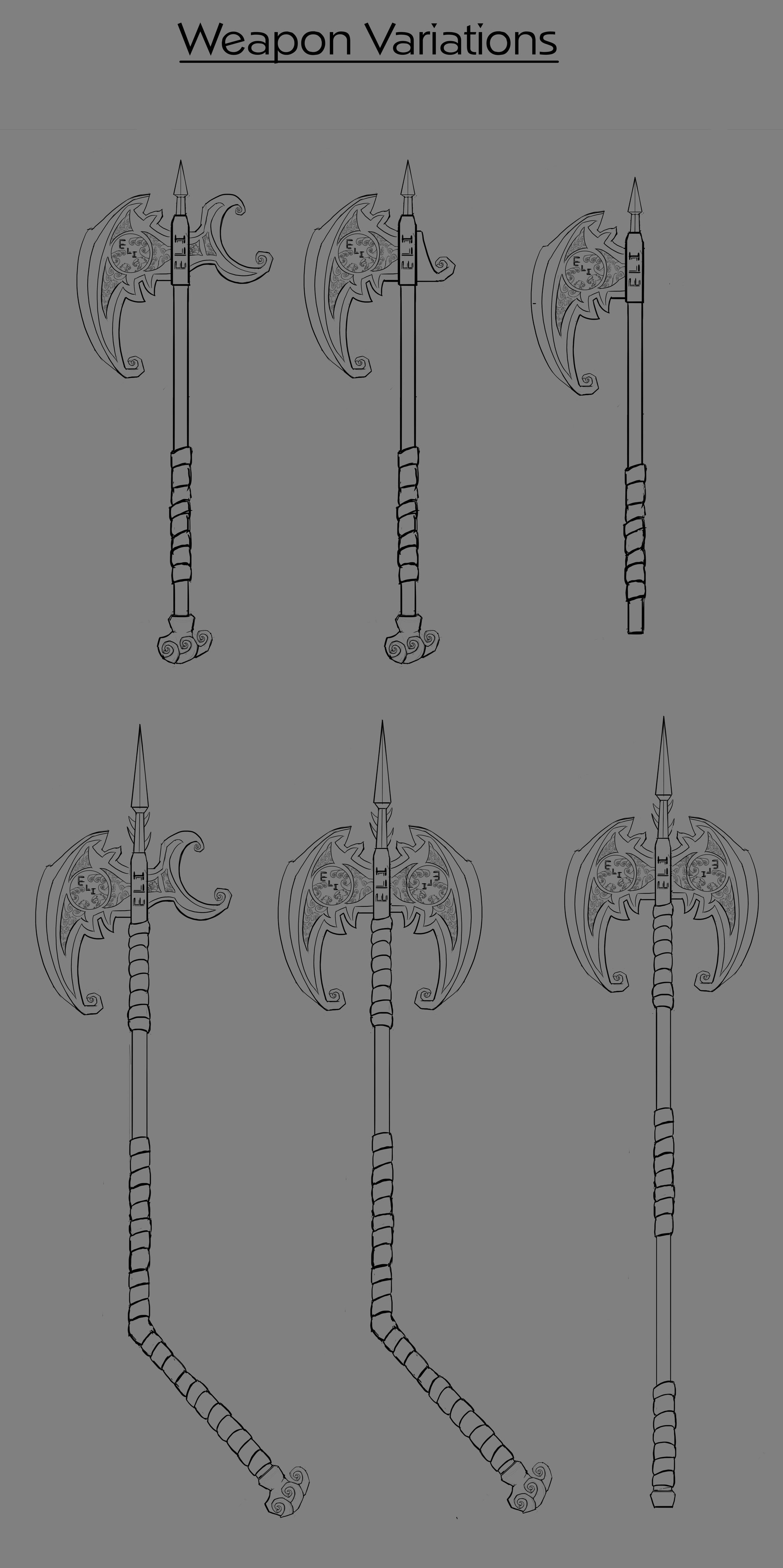 Weapon concept iterations