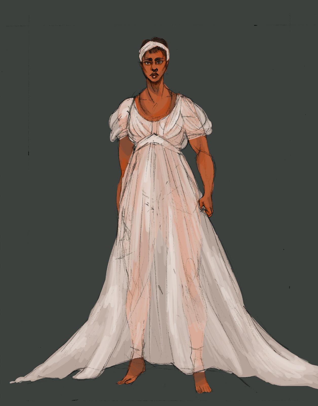 Saartjie Baartmann: concept rendering for ghost dress