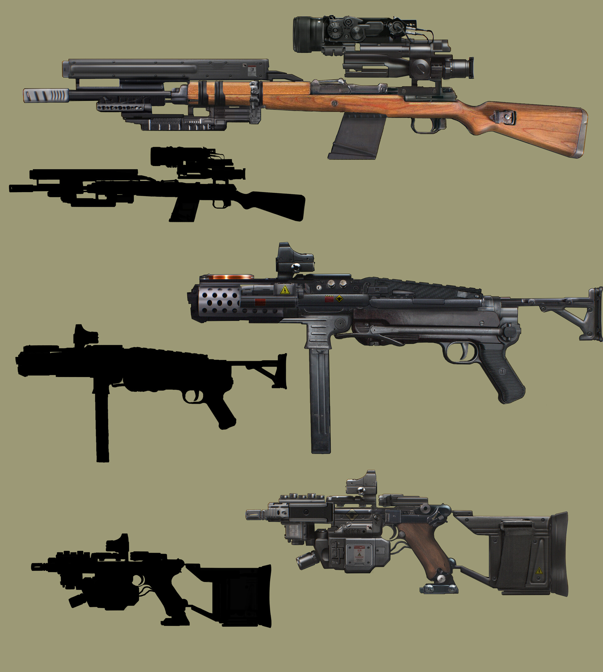 Oskar mnich guns concepts
