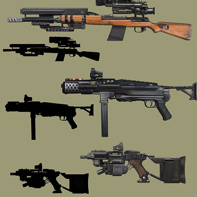 Oskar mnich guns concepts