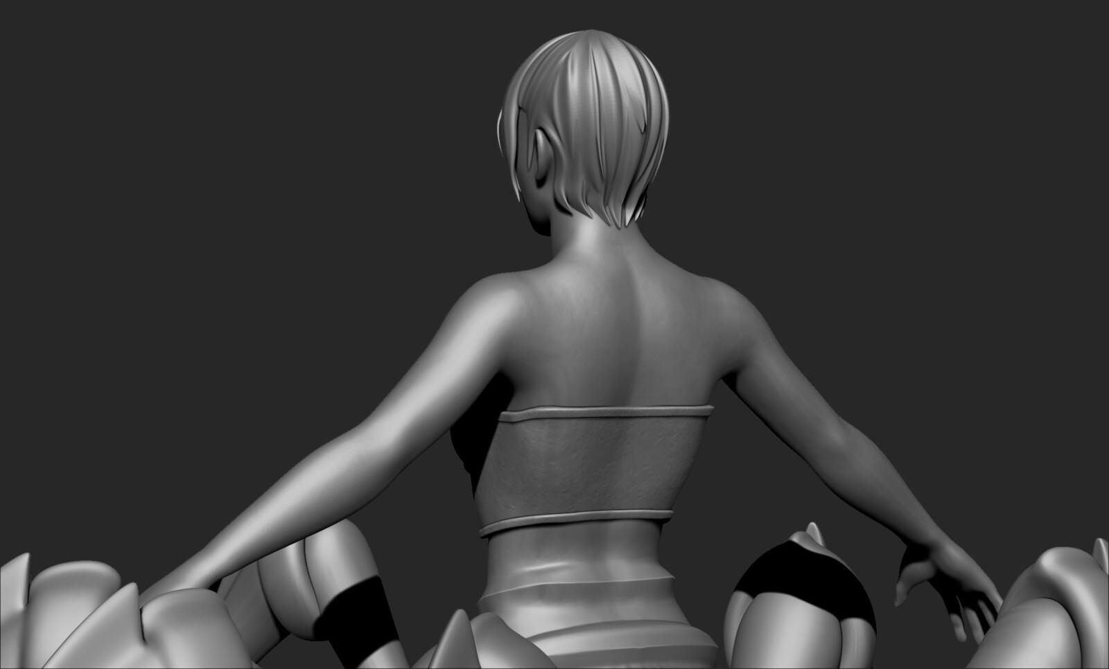 High Poly Sculpt - Back