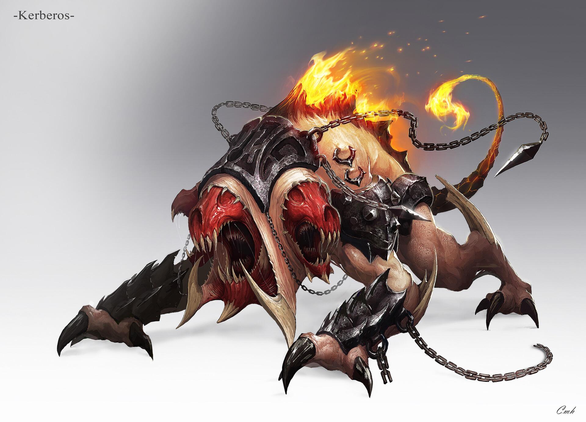 b36a556a ArtStation - Inferno demon creature (火焰地狱 怪兽), P.E.K.K.A 🤖