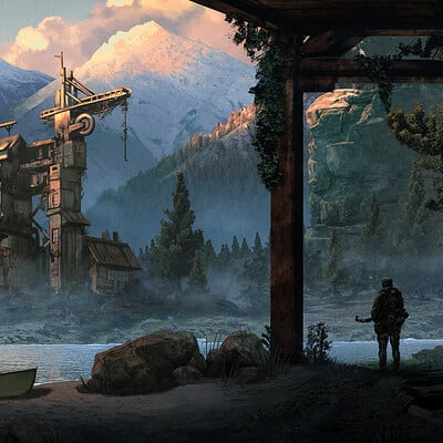 Travis lacey lumber mill survivor survival concept art travis lacey web