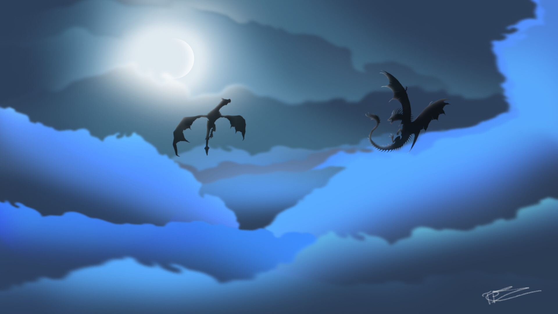 Artstation Dragon Sky Got Tony Piippola