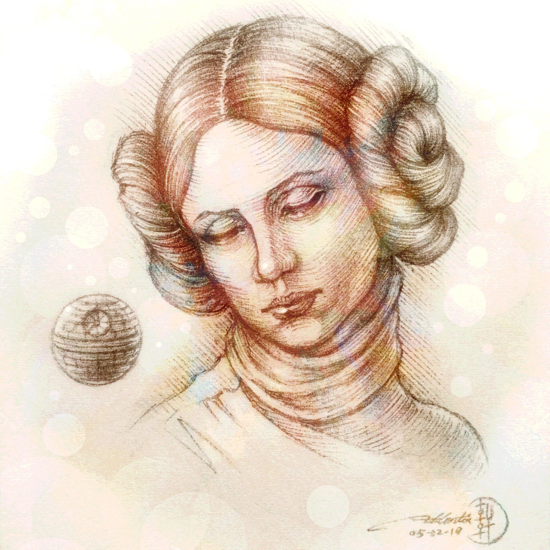 Study for the Head of Leia