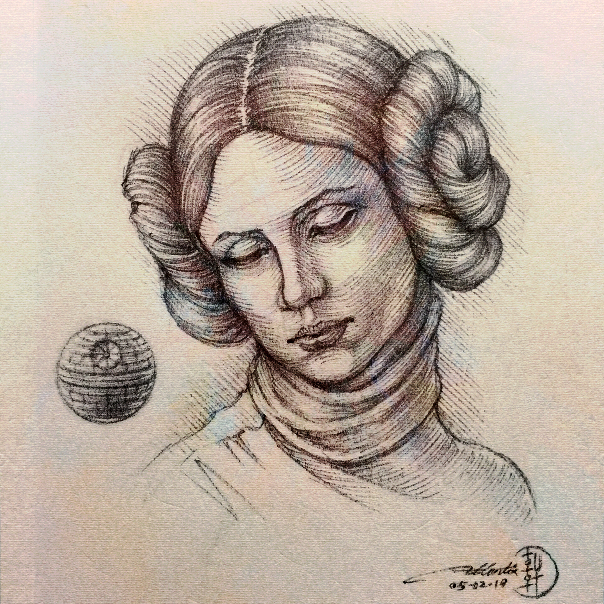 Study for the Head of Leia - Sketch