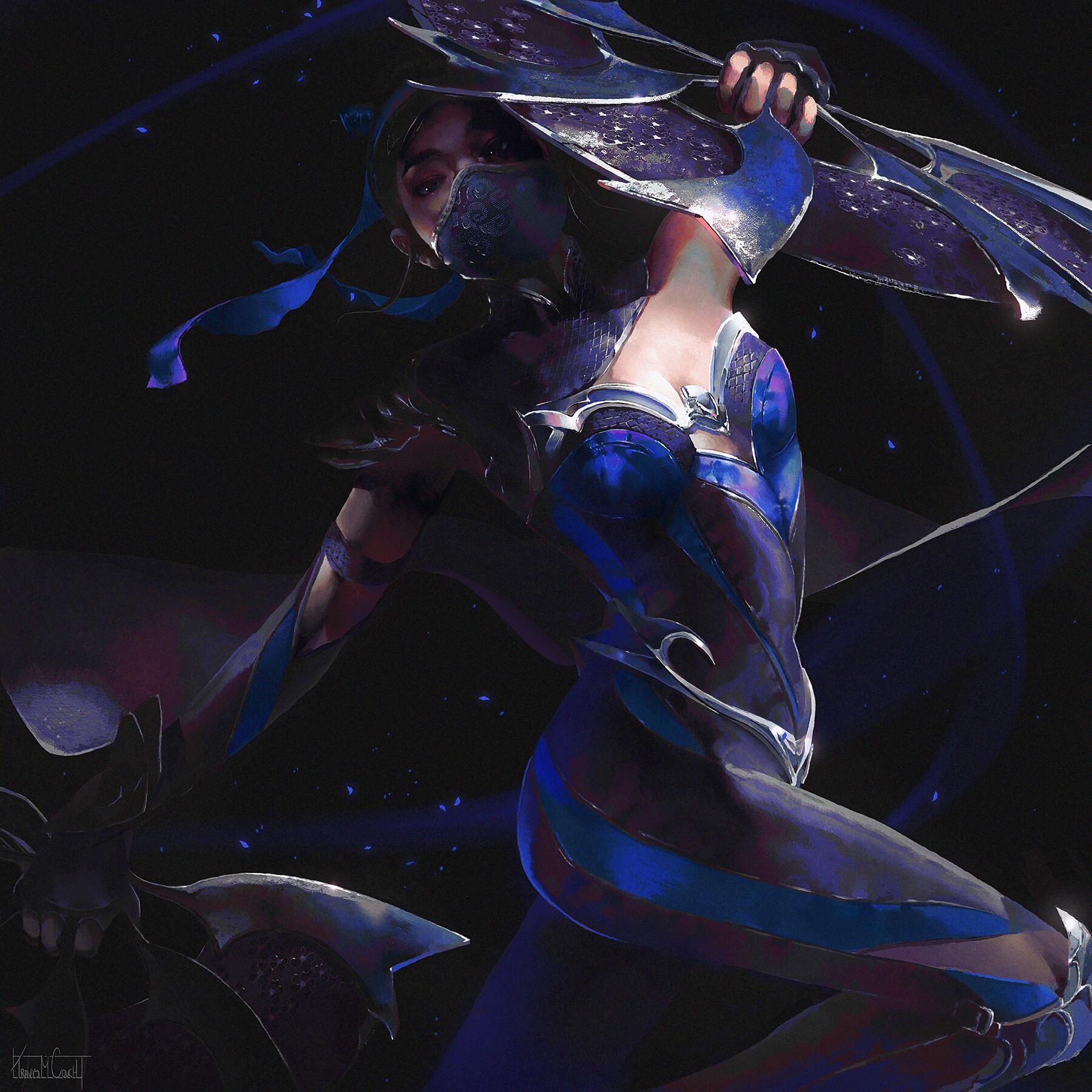 Artstation Kitana Mortal Kombat 11 Travis M Couch