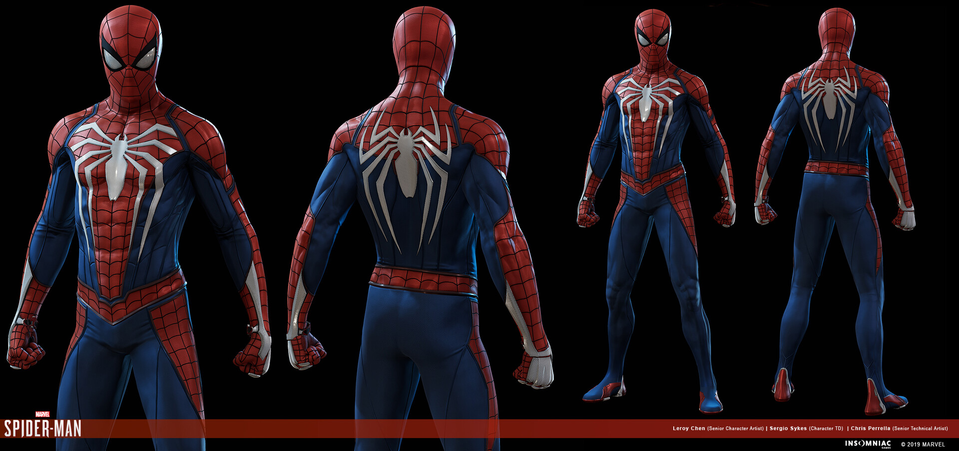ArtStation , Marvel\u0027s Spider,man Advanced Suit, Leroy Chen