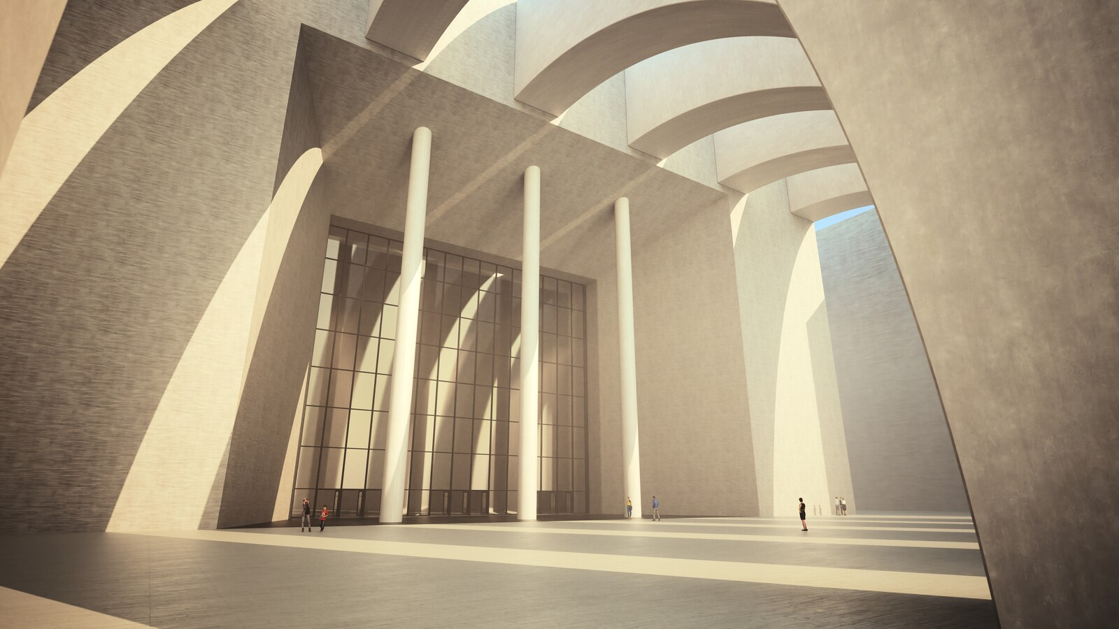 SketchUp 2019 + Thea Render  Large Hall Main Entry_SU8 2018-Scene 7 3840x2160 40m30s 1024 sp 02 DOF3