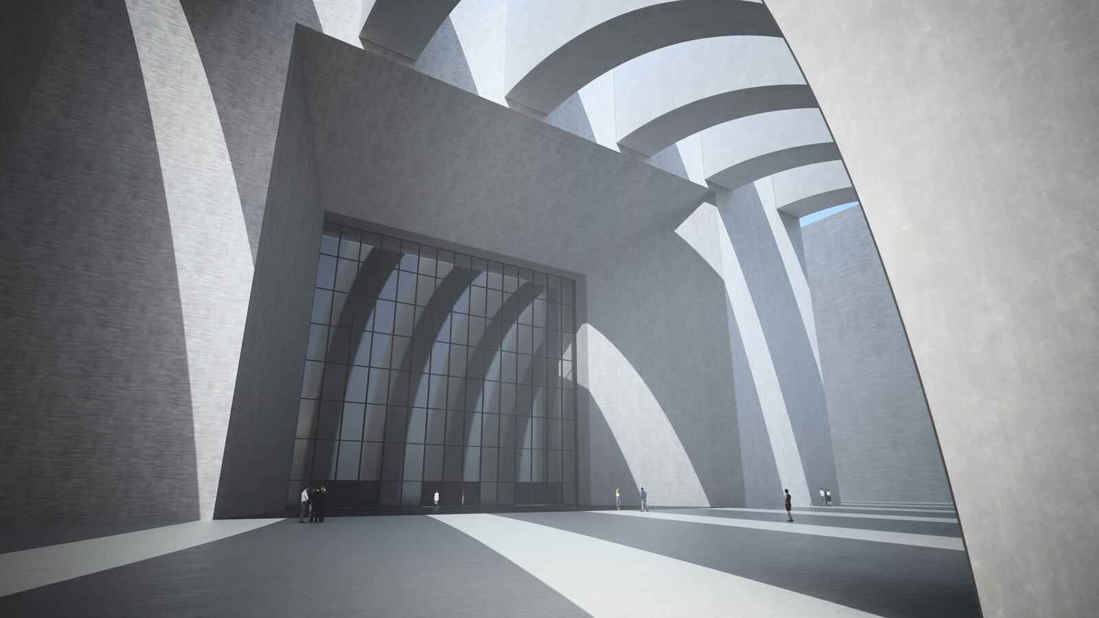 SketchUp 2019 + Thea Render  Large Hall Main Entry_SU8 2018-Scene 7 no pillars Emitter 3840x2160 43m48s 1024 sp 03 Optura981114crf