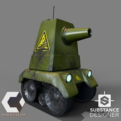 Low-Poly Game-Ready Tank with Procedural Texture