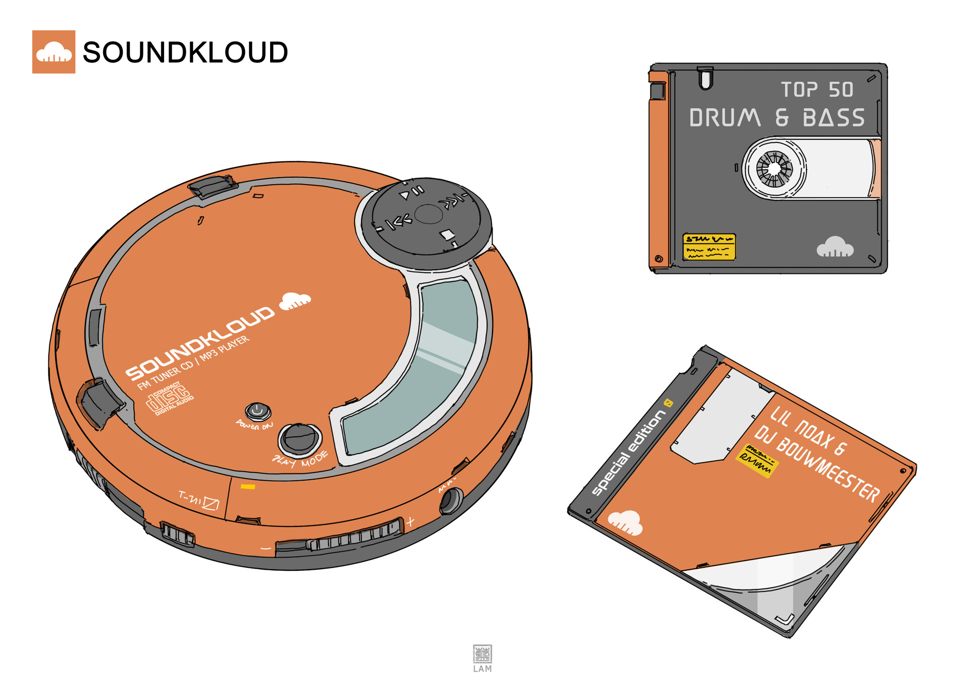 soundcloud / cd player