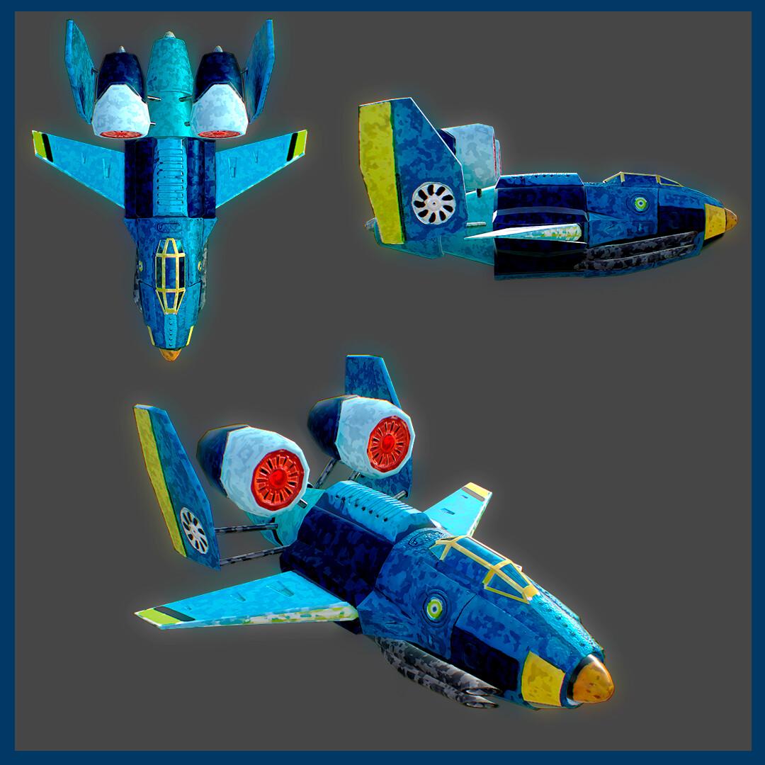 ArtStation - Plane 3D Model, Daniel Dorado