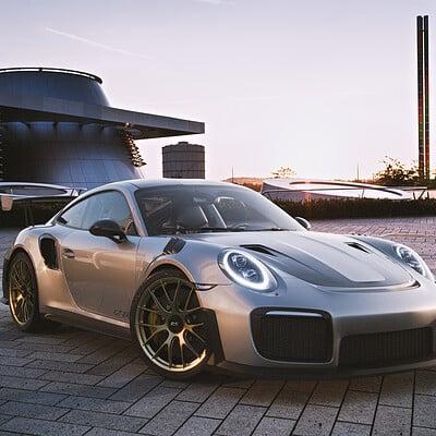 Porsche GT2 RS - Corona Render