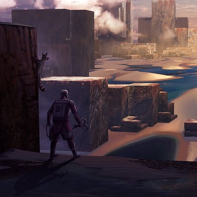 Travis lacey desert cubes travis lacey concept art maysketchaday 2019 web