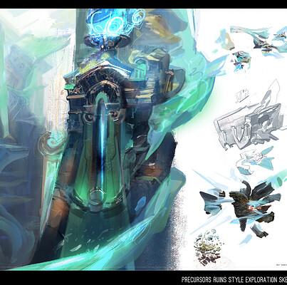 Igor burlakov dartgarry precursors ruins style exploration sketch 10