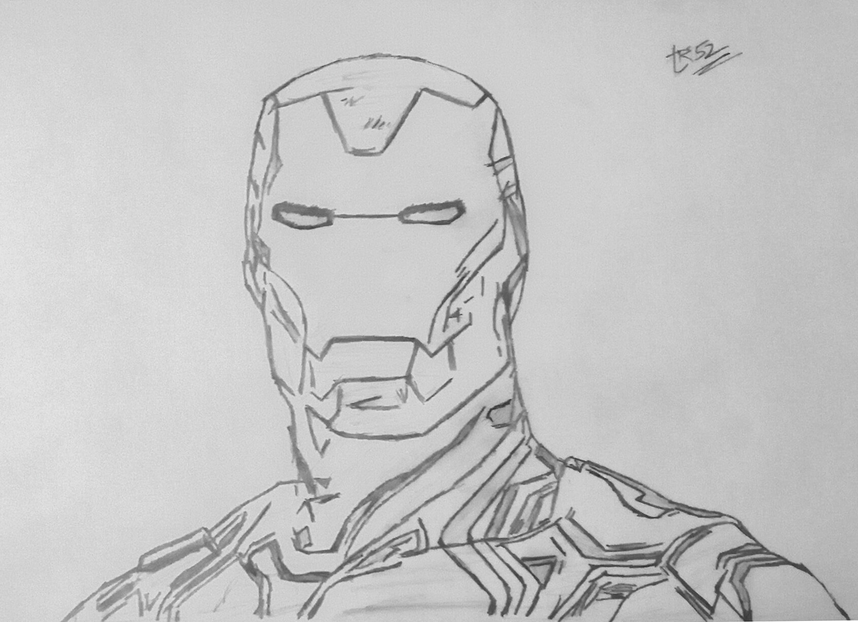 Artstation iron man mark l armor pencil sketch tr 52