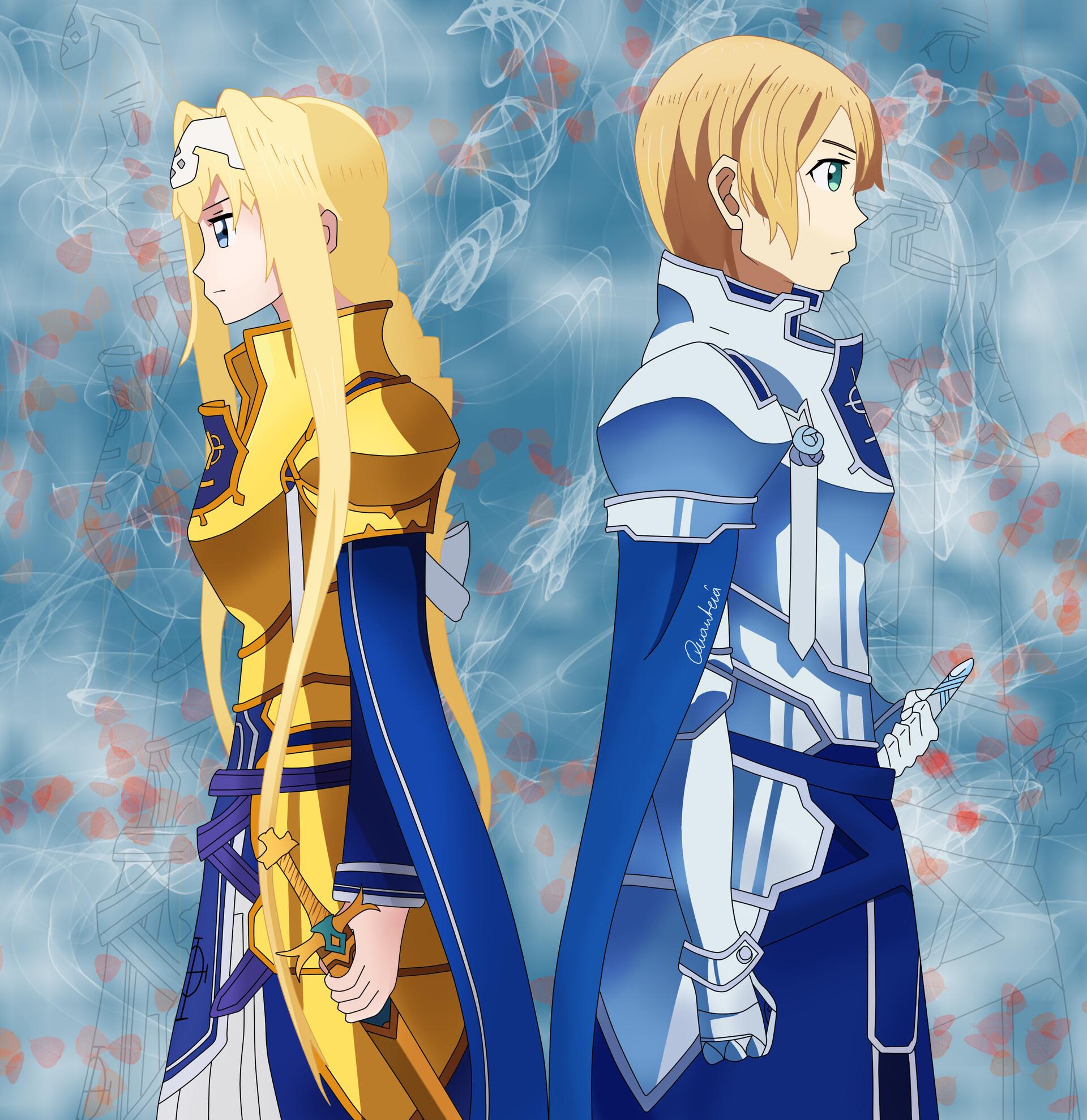 Artstation Fanart Integrity Knights Alice And Eugeo Quanteia Q