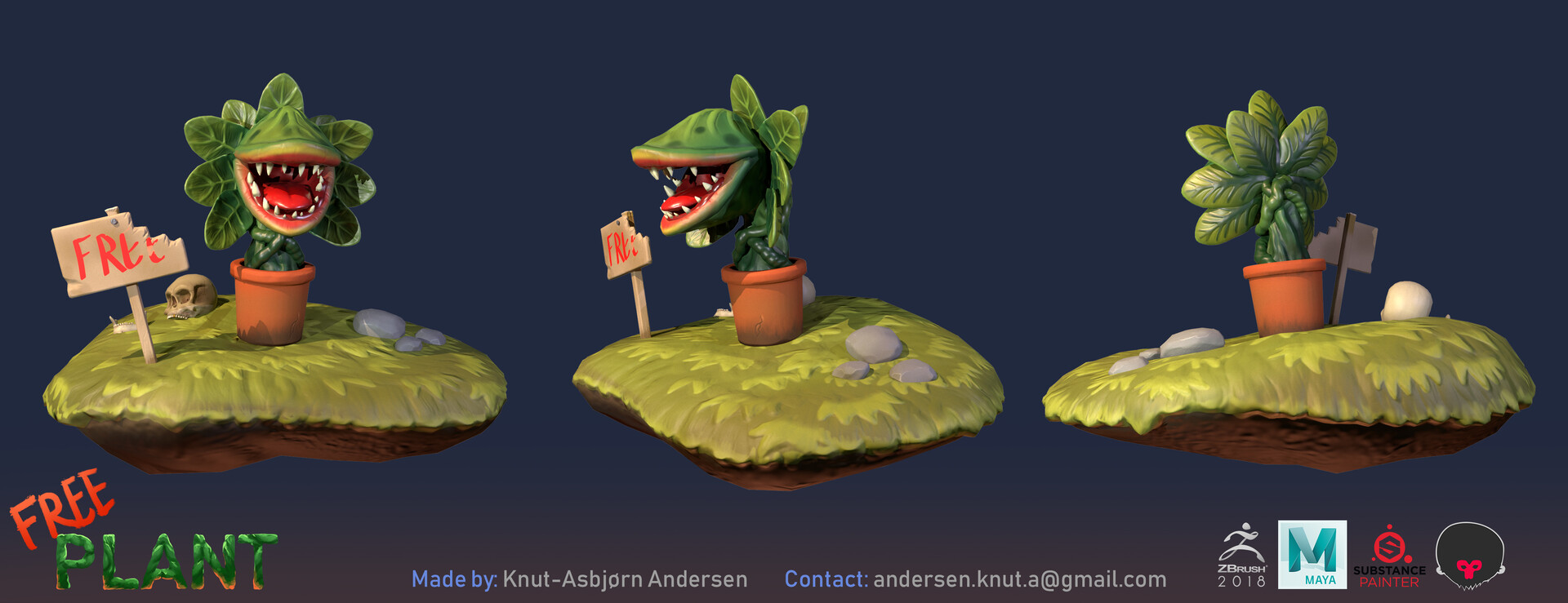 Knut asbjorn andersen free plant side shaded