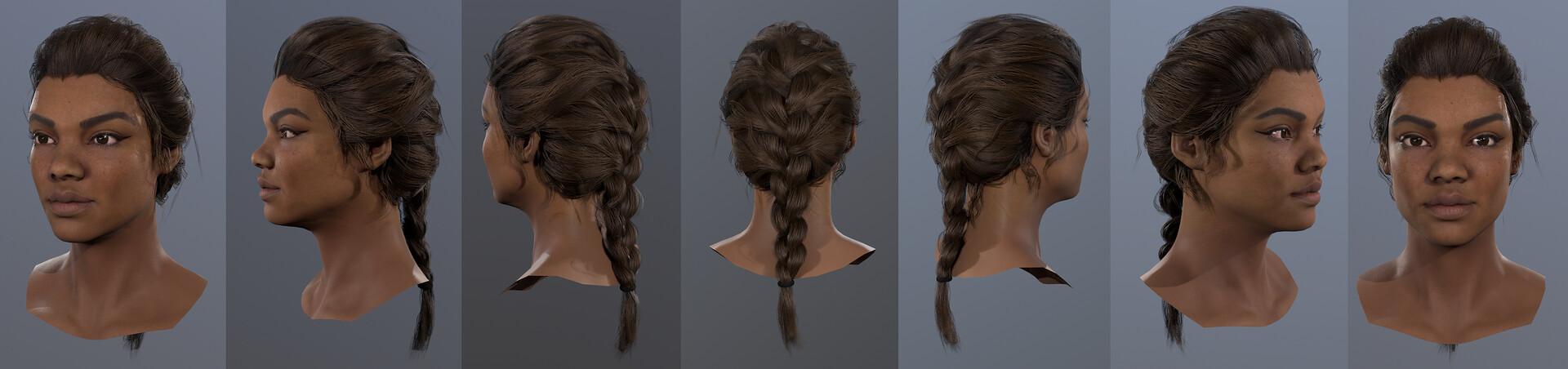 Hazel brown hair turntable