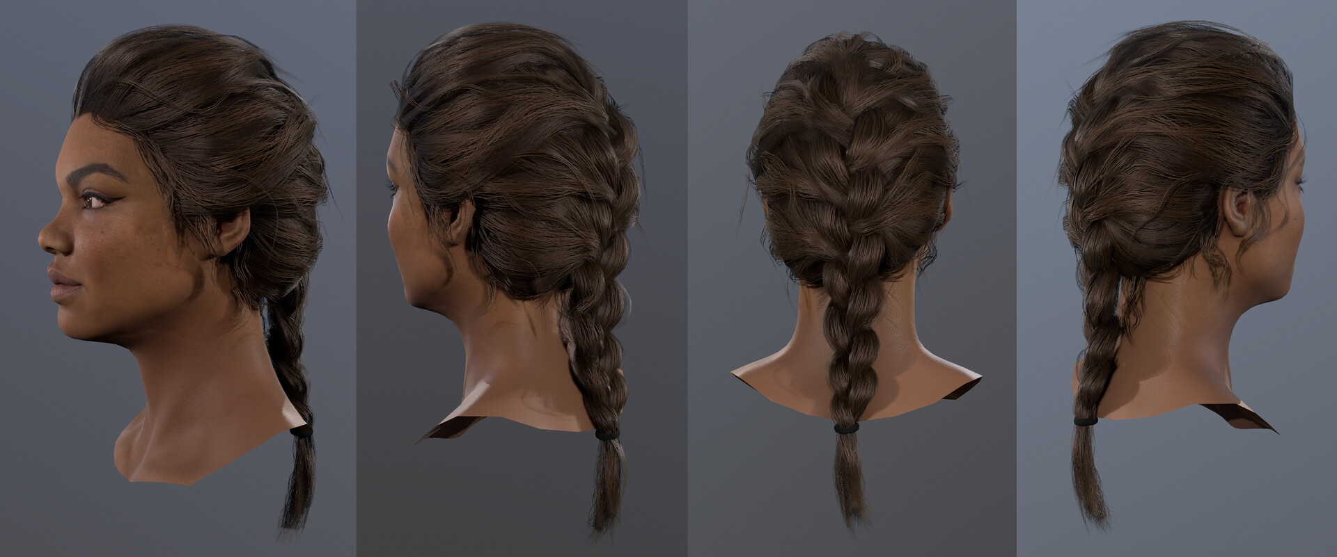 Hazel brown hair turntable2