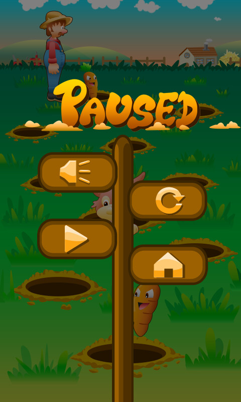 ArtStation - Concept for 2d Mobile Game - Rabbit Burrow