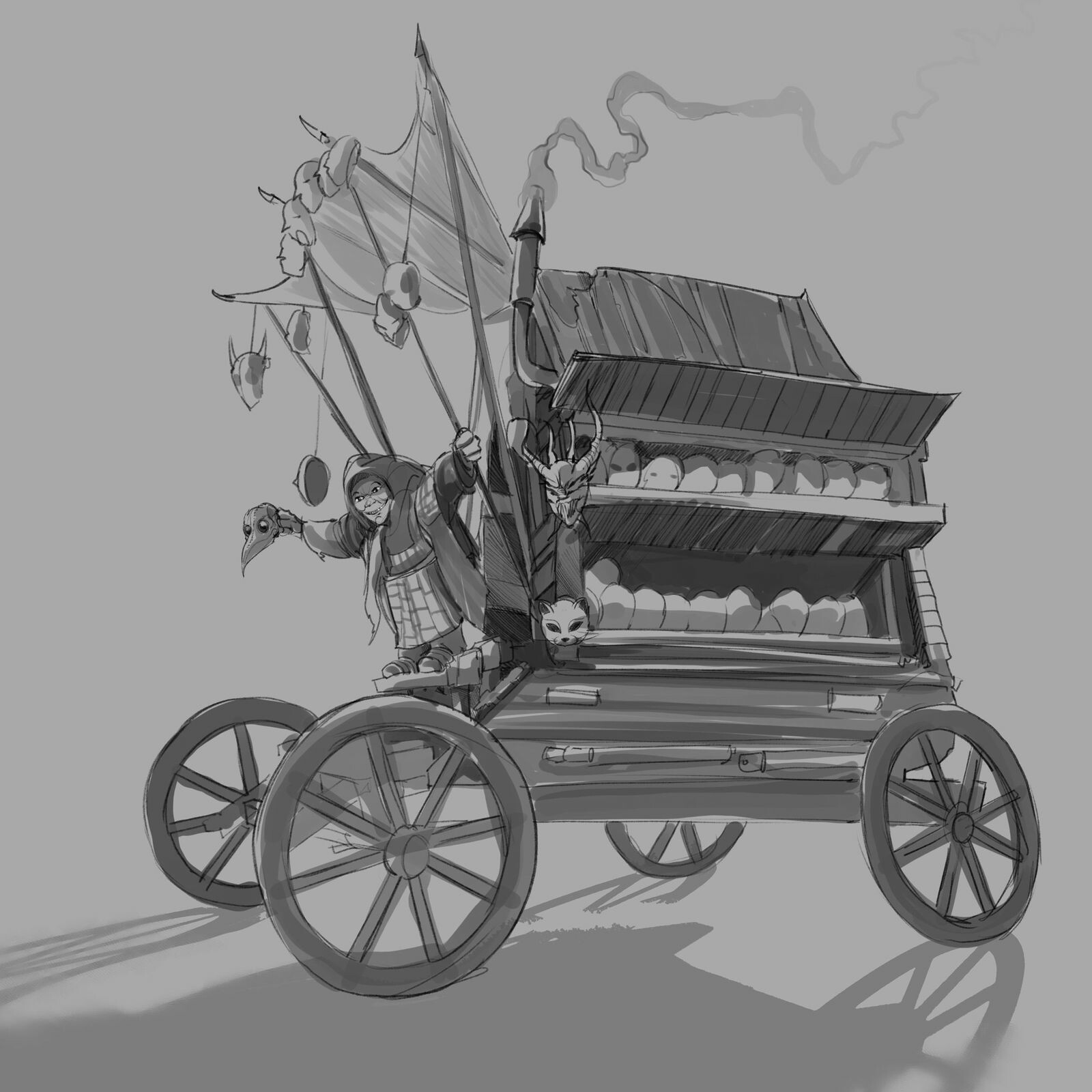 Mask Peddler sketch 1